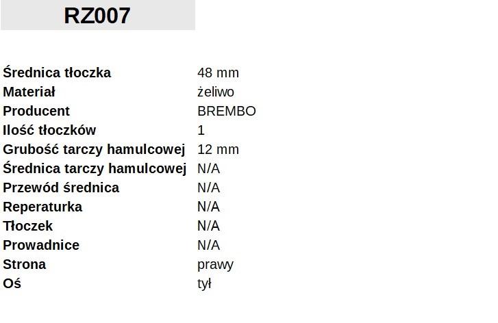 ZACISK HAMULCOWY Fi. 48mm, PRAWY