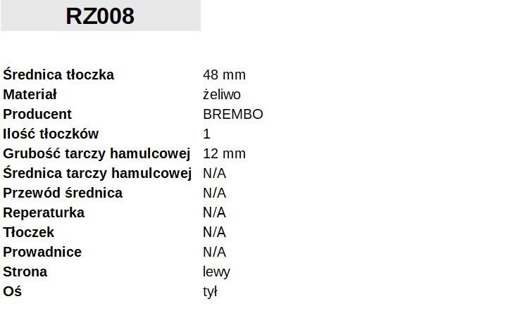 ZACISK HAMULCOWY Fi. 48mm, LEWY