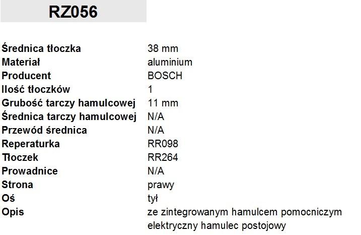 ZACISK HAMULCOWY FI. 38MM, PRAWY